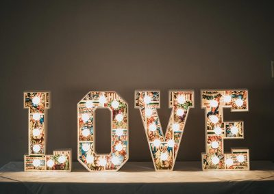 Small light up letters word LOVE