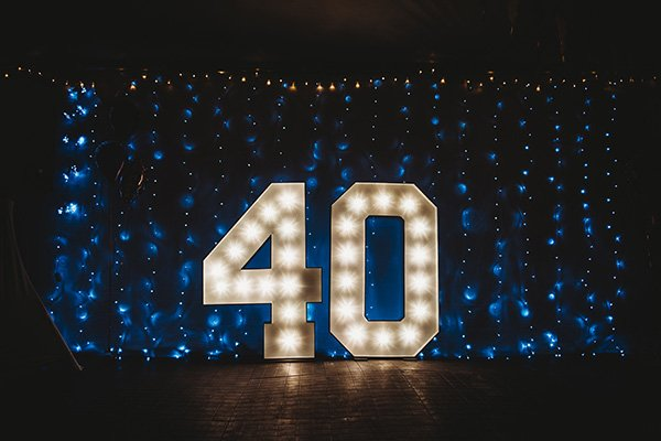 Small light up letters 2ft tall for table top displays