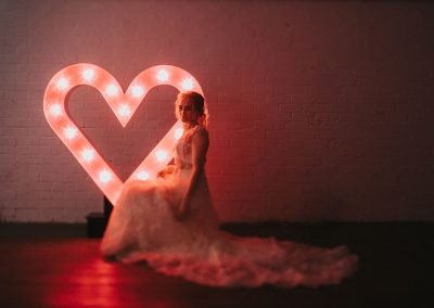 Large light up letters heart symbol from Ray Of Light Letters, Lincolnshire and Yorkshire