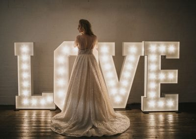 giant bulb letters love anniversary