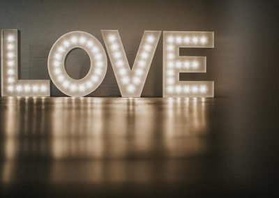 Contemporary LOVE light up letters from Ray of Light Letters, Lincolnshire and Yorkshire