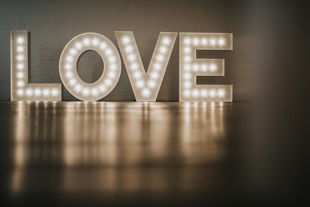 Classical Light Up Letters LOVE for your wedding, marriage vow renewal or anniversary party