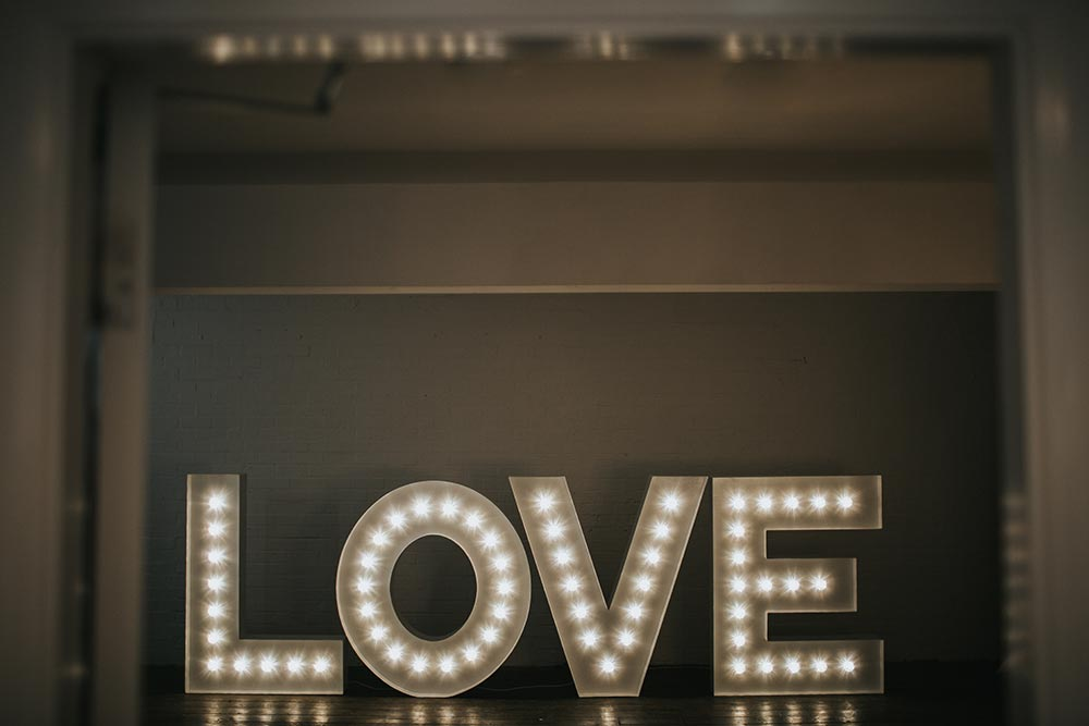 Lighted LOVE letters for your anniversary from Ray of Light Letters, Yorkshire and Lincolnshire