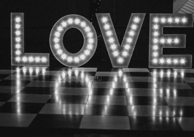 LOVE in contemporary text style from Ray of Light Letters, Lincolnshire and Yorkshire