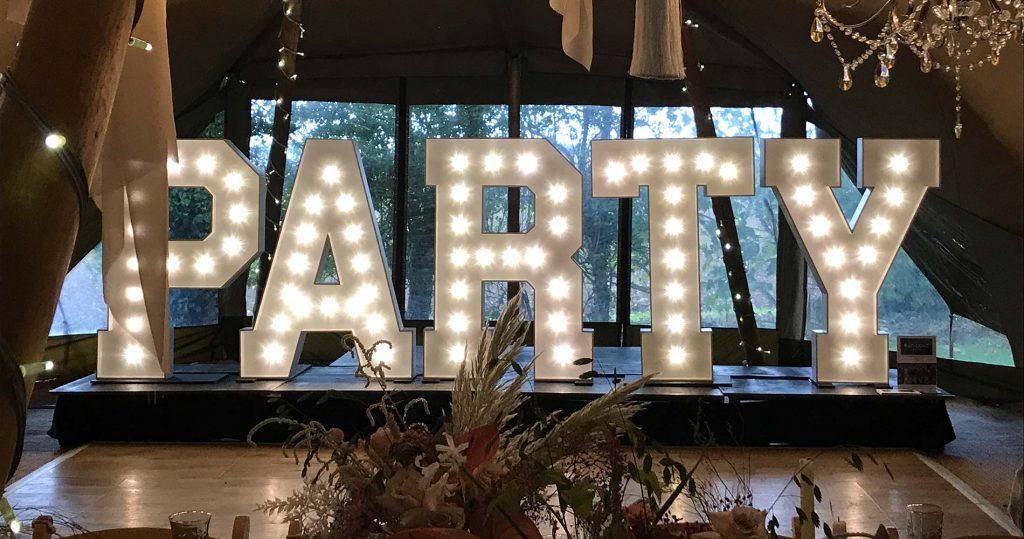 Large light up letters for your party