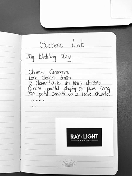 Create a success list to help with your event planning